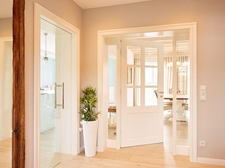 Legende Zimmertür weiß, Landhaus, Rahmentür, Landhaus, Glasschiebetür