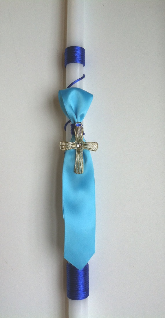 Boys Tie Themed Easter Candle/ Lambatha by MyLittleDetailsShop, $20.00