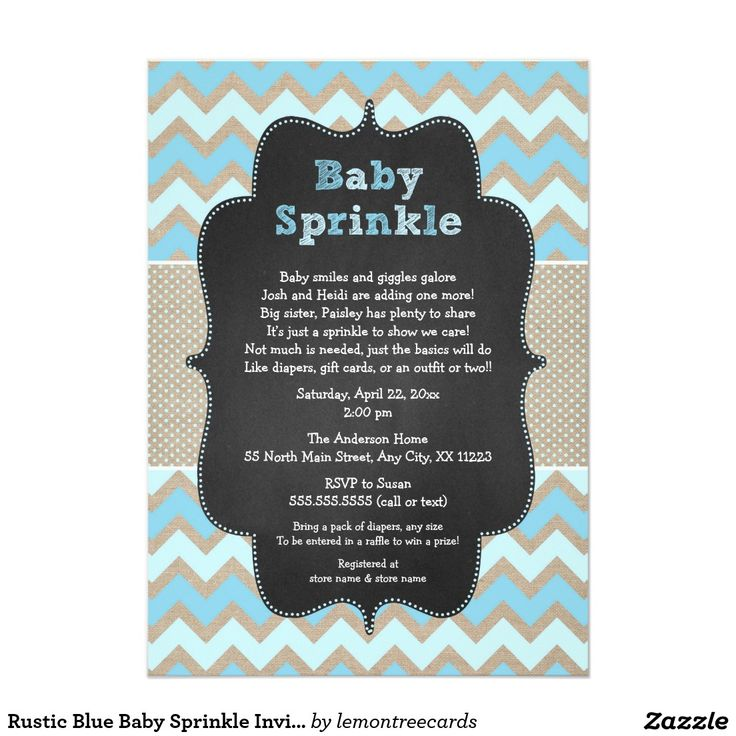 bridal shower invitations vector free%0A Rustic Blue Baby Sprinkle Invite   boy baby shower
