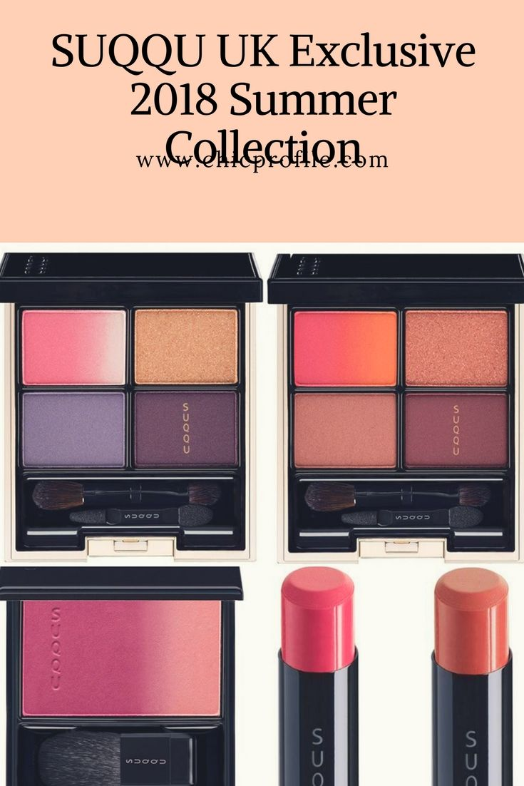 For Summer 2018 SUQQU has chosen a palette of contrasting shades, made up of bright and bold colors that are striking yet wearable. via @Chicprofile