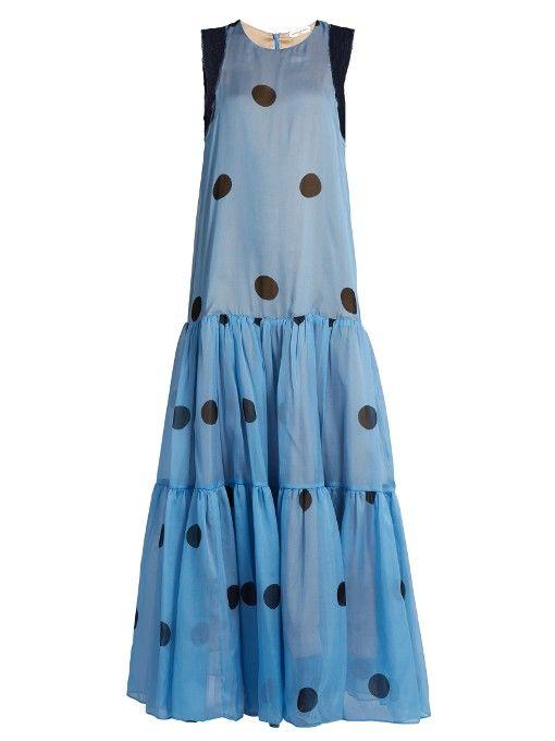 Natasha Zinko Polka-dot print silk-chiffon dress
