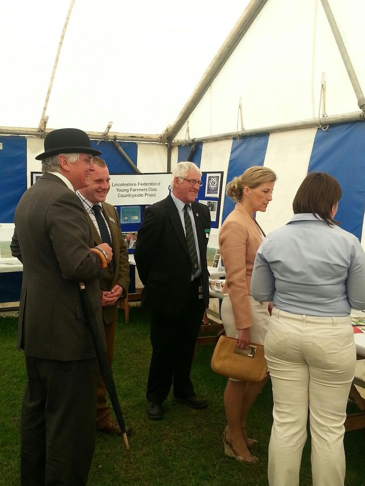 HRH The Countess of Wessex visiting the Lincolnshire Young Farmers Marquee at the 2013 Lincolnshire Show