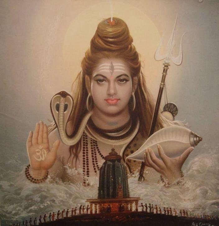 Shiva mahadev vintage poster