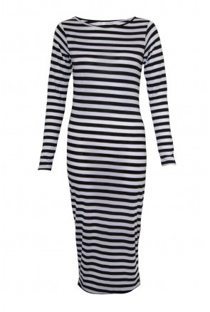 Stripe Midi Dress - Maxi Dresses - Dresses