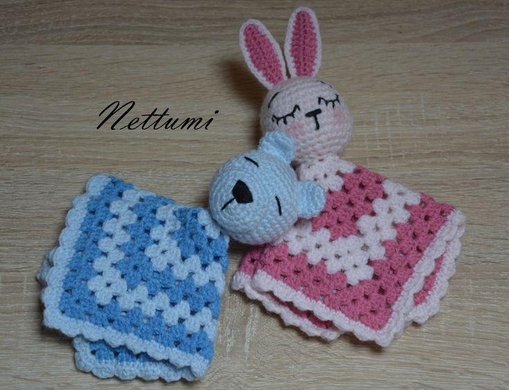 Crochet blankies for babies by Nettumi