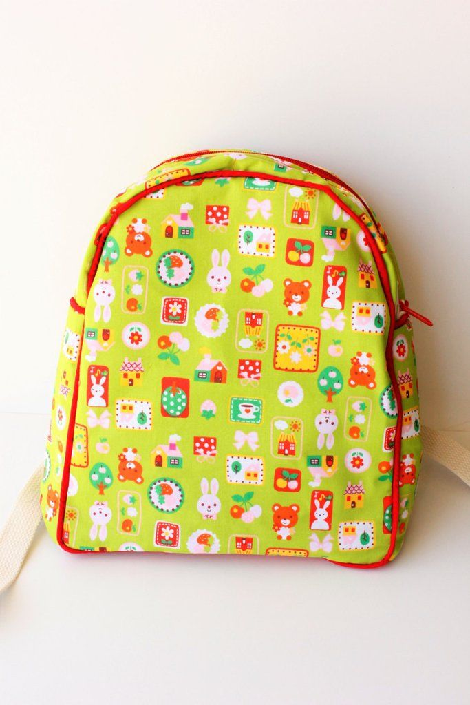 Back to school, backpack, kids back pack, cute animals, Bunny, Teddy bear, Green