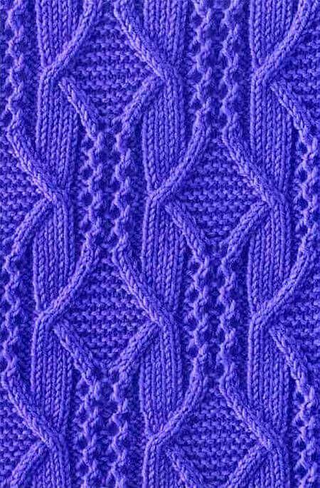 Variation cool knitting pattern