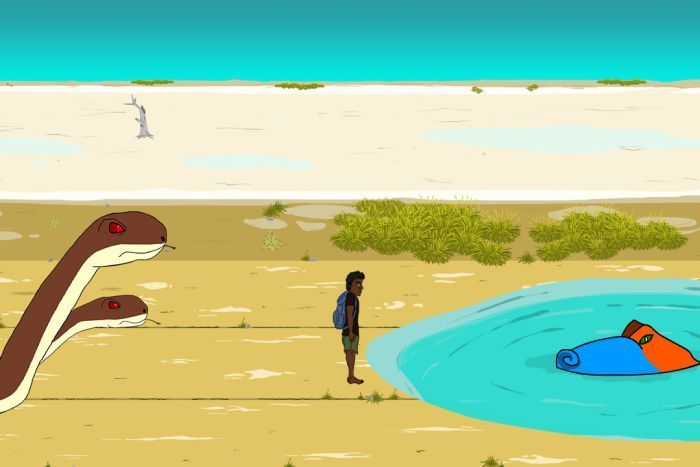 The entire game is spoken in the Western Desert language Ngaanyatjarra.