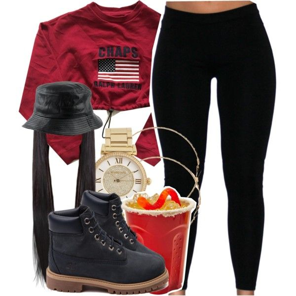 A fashion look from May 2015 featuring Chaps sweatshirts, Timberland ankle booties and Michael Kors watches. Browse and shop related looks.