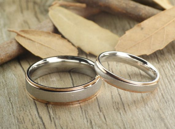 Christmas Gifts His and Her Promise Rings Gold by JRingStudio