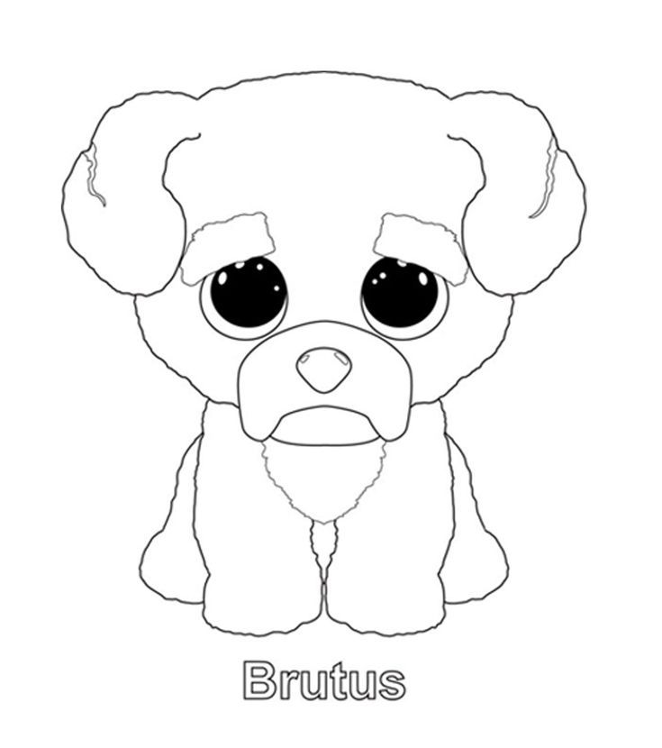 Coloring Rocks Dog Coloring Page Beanie Boo Birthdays Beanie Boo