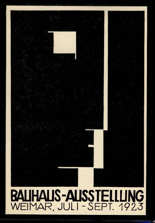 Germany. Bauhaus Ausstellung, 1923 with the logo designed by Oskar Schlemmer  // designer: Herbert Bayer