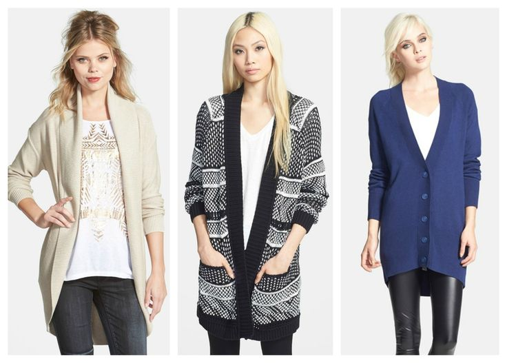 Just picked these up at the Nordstrom Clearance Sale! - perfect cardigans to pair up with leggings or jeans for a casual weekday or weekend look.
