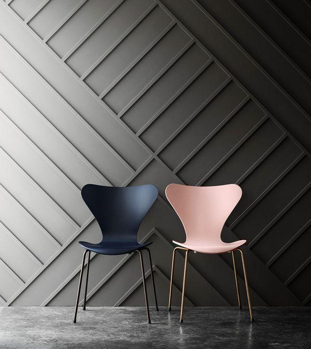 Мужская и женская версии стула Series 7 Арне Якобсена | AD Magazine