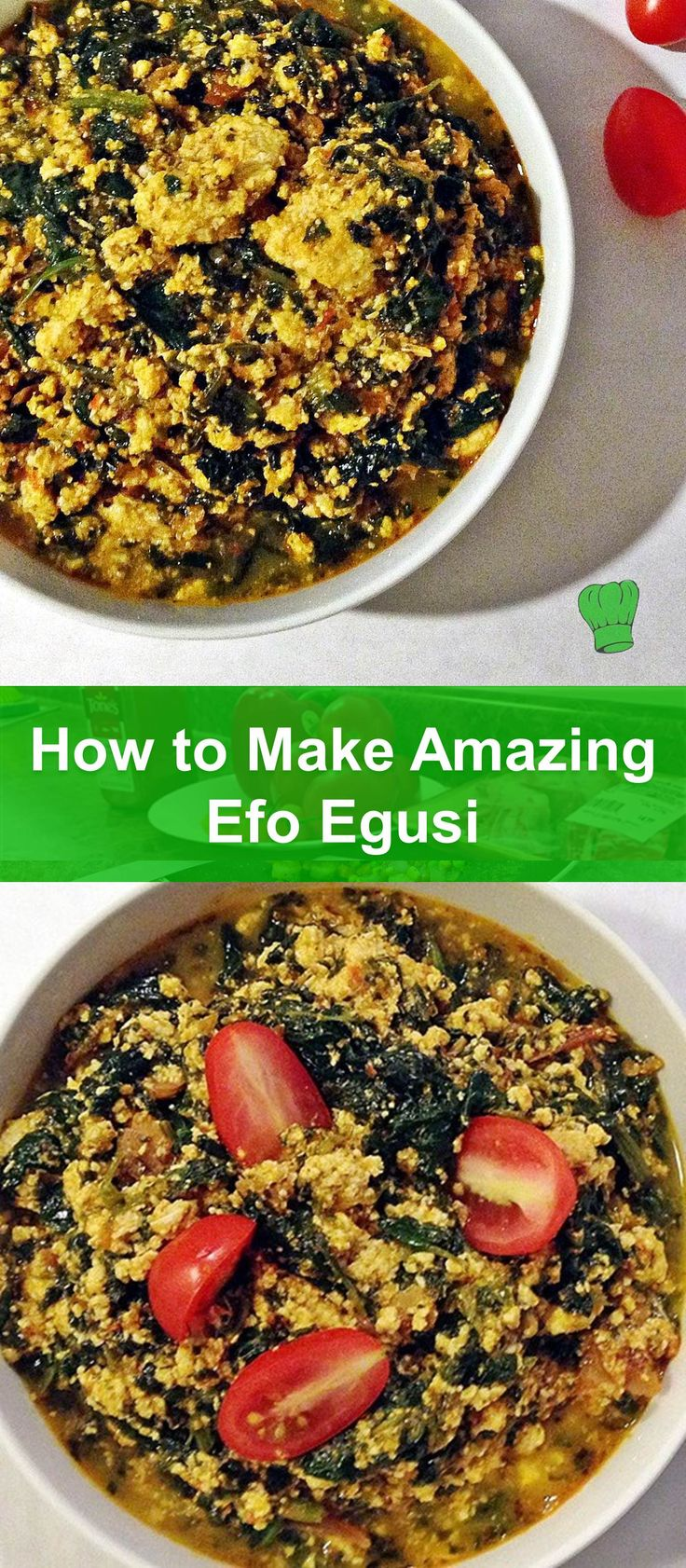 Nigerian vegetable soup with egusi (aka efo egusi) is very easy to make once you get the hang of the quick tips in this recipe :) Best part? no frying needed to make this very healthy