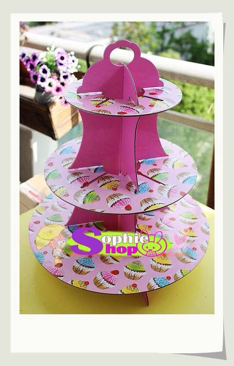 Stand porta Cupcake de cartón  www.sophieshop.cl