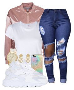 """"" by diamondanderson287 on Polyvore featuring NLY Trend, RE/DONE, Accessorize, Michael Kors, Casetify and NIKE"