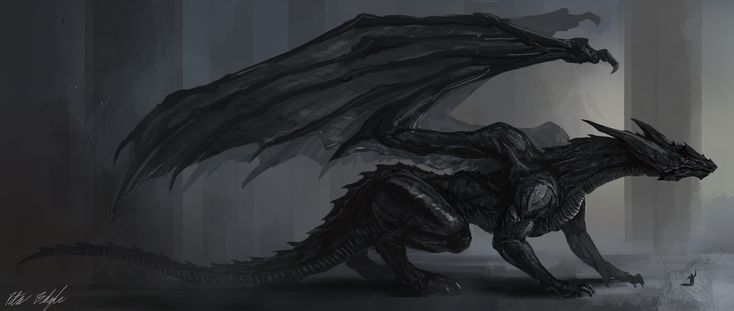 Peter Prime has created this depiction of the Black Dragon Tempest from his story.