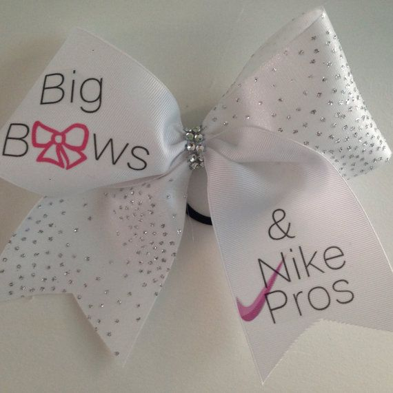 Big bows and nike pros Cheer bow by MyBowality on Etsy, $6.00
