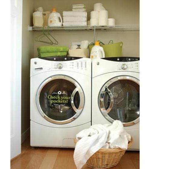Laundry, vinyl decal, uppercase living