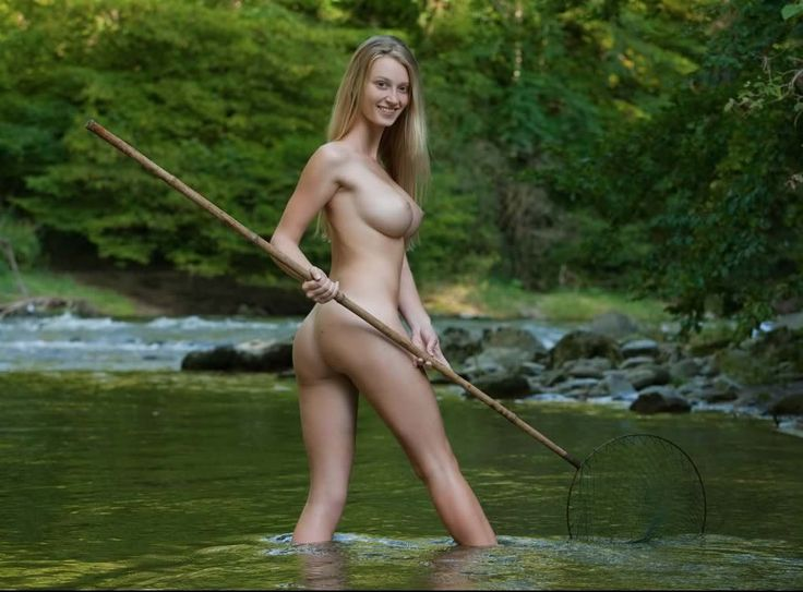 Carisha Fishing in River | The Great Nude |The Figurative Arts Network, Hot Babes Naked