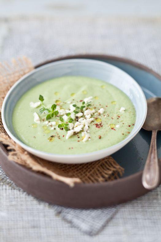 Chilled Cucumber Avocado Soup | Tartelette