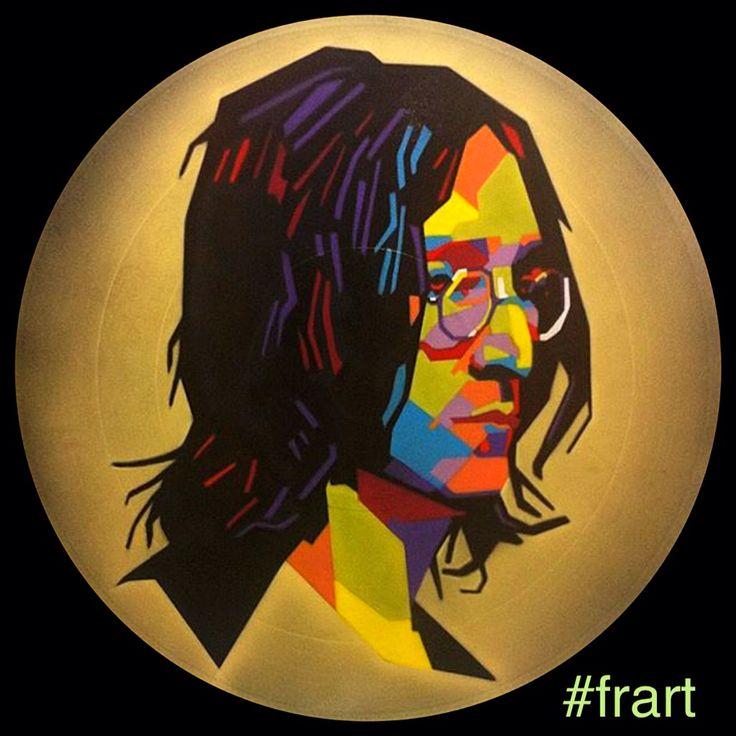 John Lennon  #viniliaerografati  Instagram arte.frart