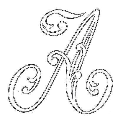 Embroidery template; monogram; letter A; love this style, would look even more beautiful with flowers and leaves added, or ?