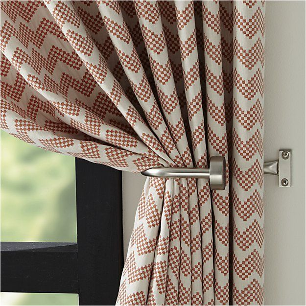 "Invisible Nickel .75""dia.x28""–48"" Room Darkening Curtain Rod 