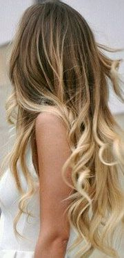 Chocolate and Caramel Colored Ombre Hair Extensions Human Remy Hair. $110.00, via Etsy.