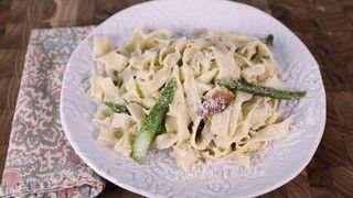 Tagliatelle with Brown Butter, Asparagus, Spring Onions & Prosciutto Recipe | The Chew - ABC.com