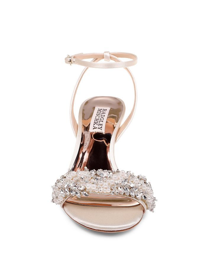 662a2c6769 Women's Fiona Embellished Kitten Heel Sandals in 2019 | Wedding ...
