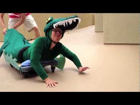 "Before putting the finishing touches on the crocodile costume for ""Peter Pan"" I thought I would try it out."