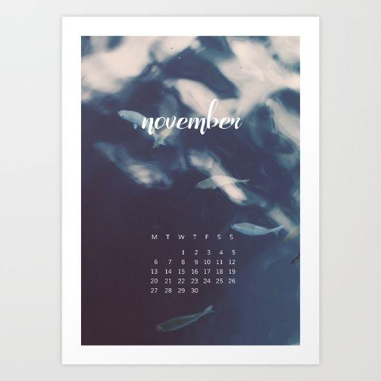 November 2017 Calender Art Print