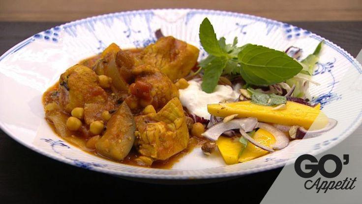 Indisk kylling er en lækker indisk opskrift fra Go' appetit med Claus Holm, se flere kødretter på mad.tv2.dk