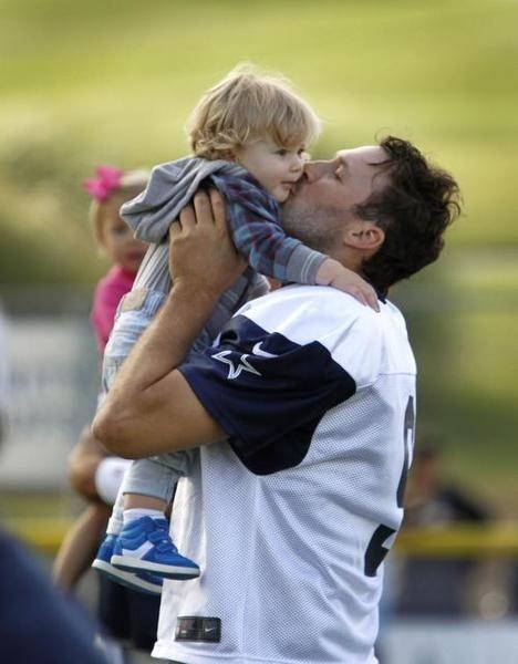 hawkins romo photos | Dallas Cowboys quarterback Tony Romo's (9) son Hawkins Romo rushed on ...