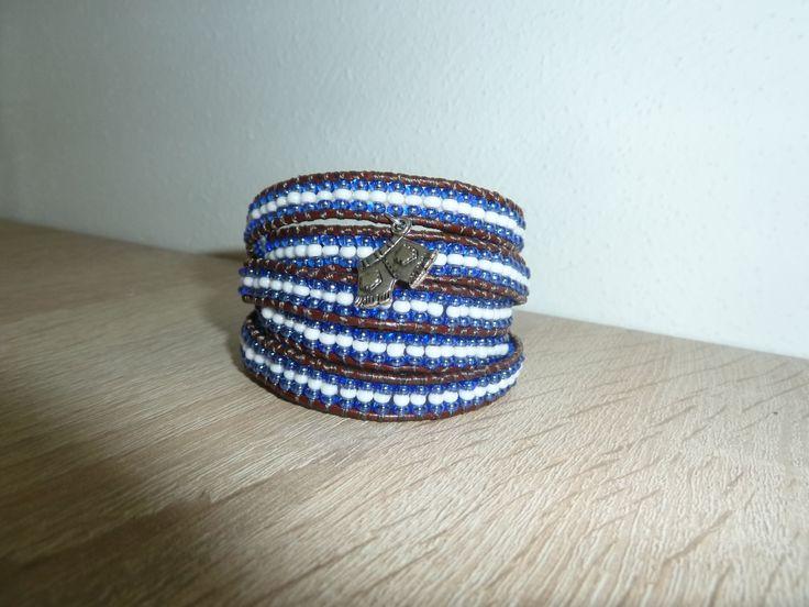 náramek modro-bílý