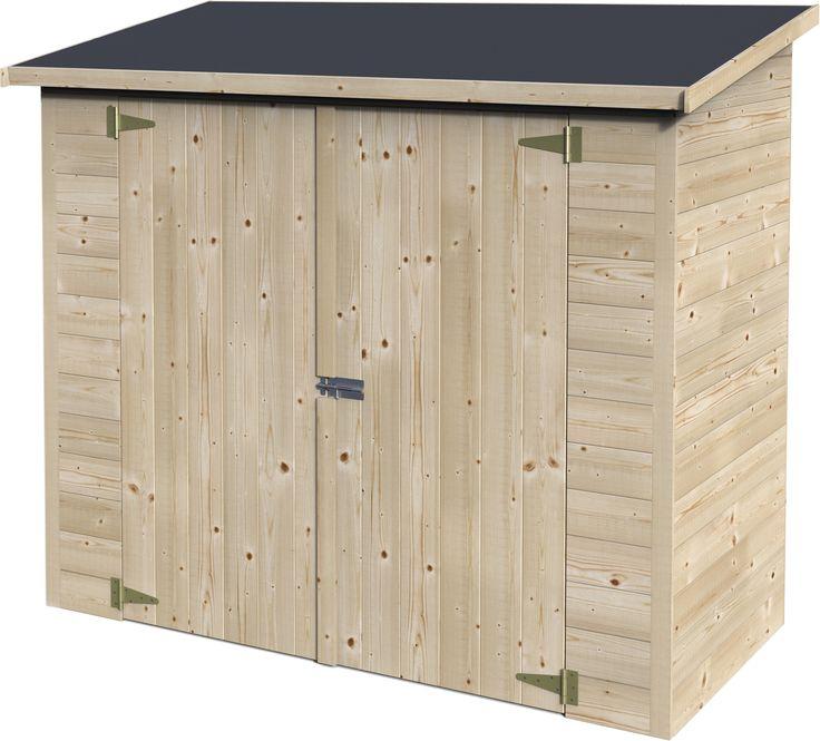Aki bricolaje jardiner a y decoraci n armario madera box for Casetas para guardar bicicletas