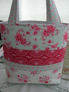 bag made with tilda fabrics~back