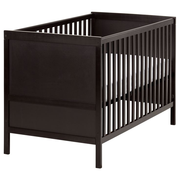 sundvik crib black brown sleep toddlers and cots. Black Bedroom Furniture Sets. Home Design Ideas