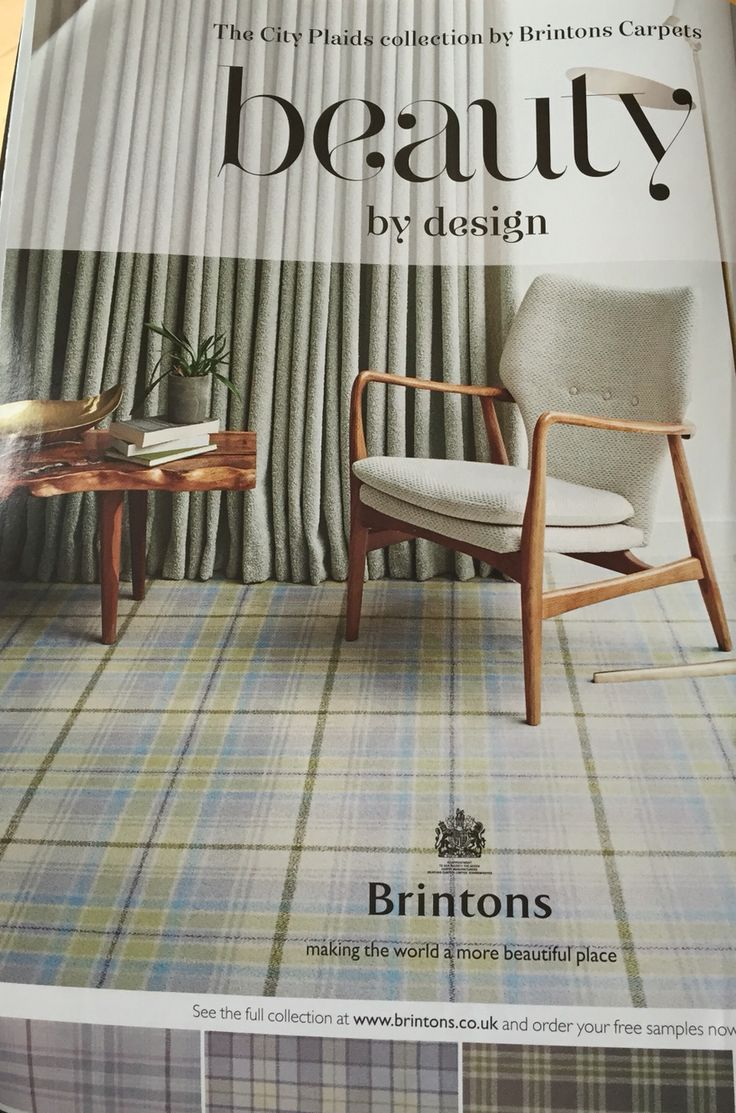 Brintons City Plaids carpet range. Modern take on tartan.