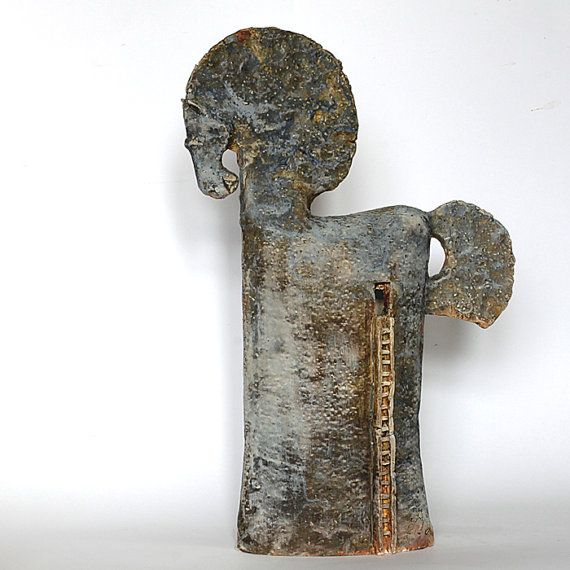 Das Trojanische Pferd v. 2.6 / Keramik Skulptur / einzigartige Keramik Figur /Horse/ Tier Ton / Tennis