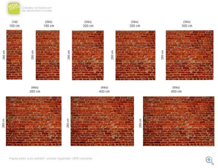 Les 25 meilleures id es de la cat gorie papier peint brique rouge sur pinterest papier peint - Papier peint brique rouge ...