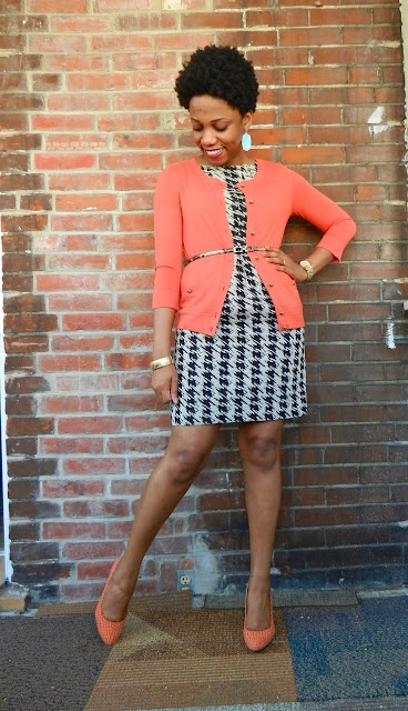 belted cardigan over sheath #outfit