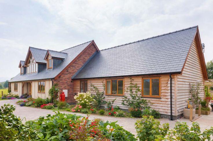 Beautiful oak framed house #oak #greenoak #wood #oakframe #frame #dream #dreamhome #house #home #goals #housegoals #glazing #welshoakframe