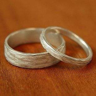 Narrow Branch Wedding Band in Silver, $125 | 40 Beautiful Wedding Bands That Are To Die For