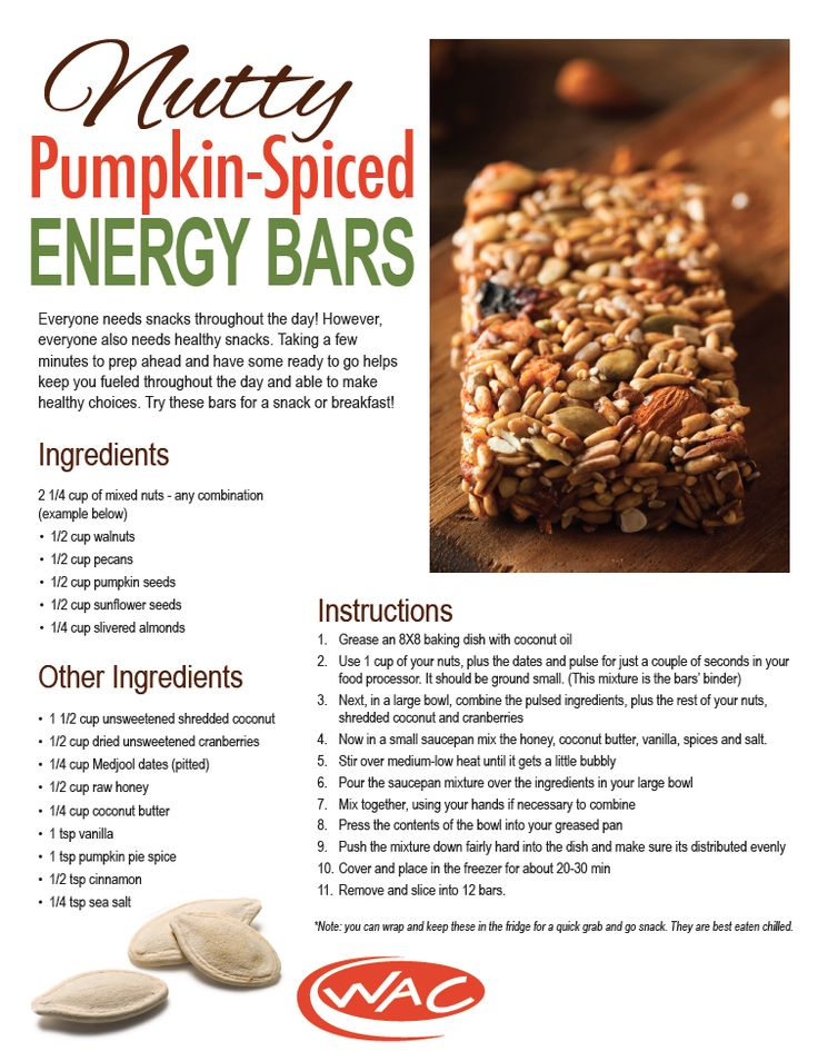 Nutty Pumpkin-Spiced Energy Bars #TheWAC #Recipe: Energy Bars