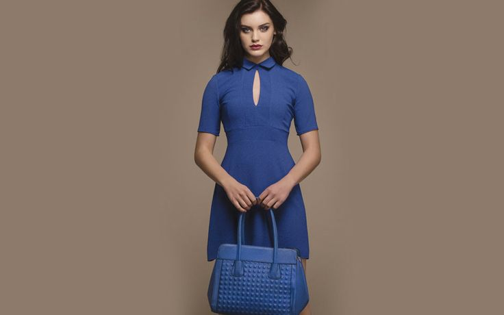 http://www.iclothing.com/roisin-collar-cut-out-dress-in-blue-46887 #iclothing #AW14 #AutumnStyle