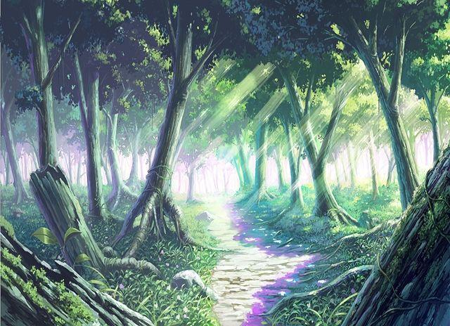Florest and Garden, Background, Anime Background, Anime Scenery, Visual Novel Scenery, Visual Novel Background