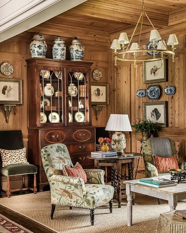 English Paneled Room: Wood Paneled Rooms Are Made For Fall Cocktails! Cozy Up